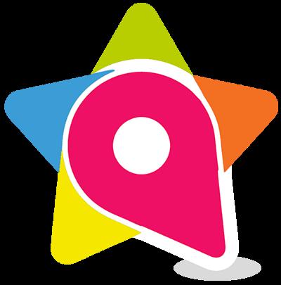 Logo contatti fucsia